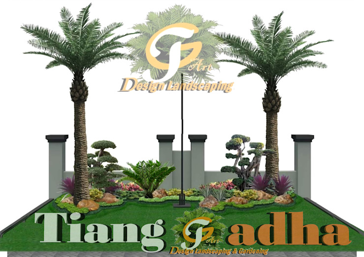 Desain Taman Gresik Oleh Tukang Taman Surabaya - Tianggadha-art