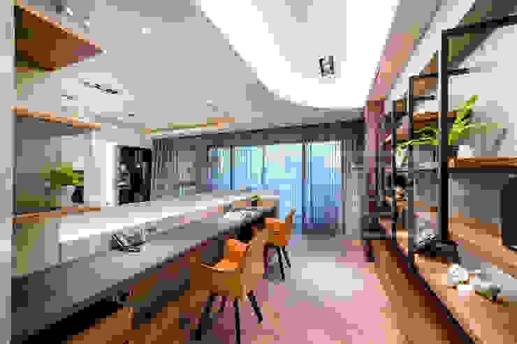 開放式書房 沐築空間設計 Modern Study Room and Home Office