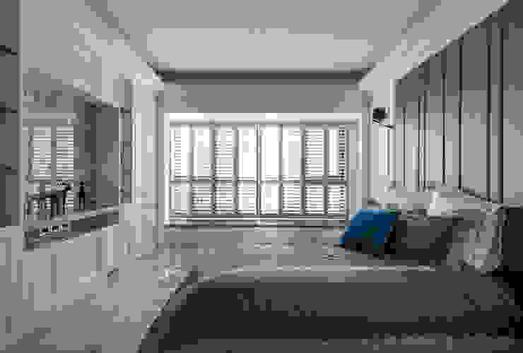清新現代輕古典的主臥室 根據 沐築空間設計 古典風