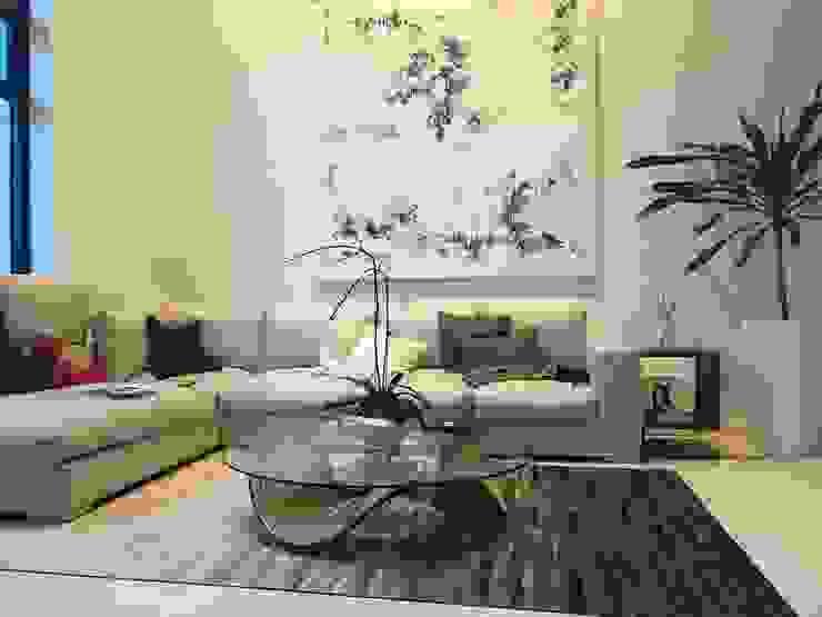 Scandinavian Luxury Scandinavian style living room by Singapore Carpentry Interior Design Pte Ltd Scandinavian