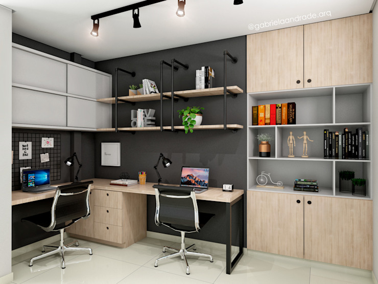 Study/office by Gabriela Andrade Arquitetura, Industrial