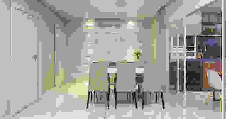 Estúdio j2G| Arquitetura & Engenharia Comedores de estilo minimalista Cerámico Blanco