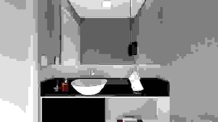 Estúdio j2G| Arquitetura & Engenharia Baños de estilo minimalista Compuestos de madera y plástico Gris