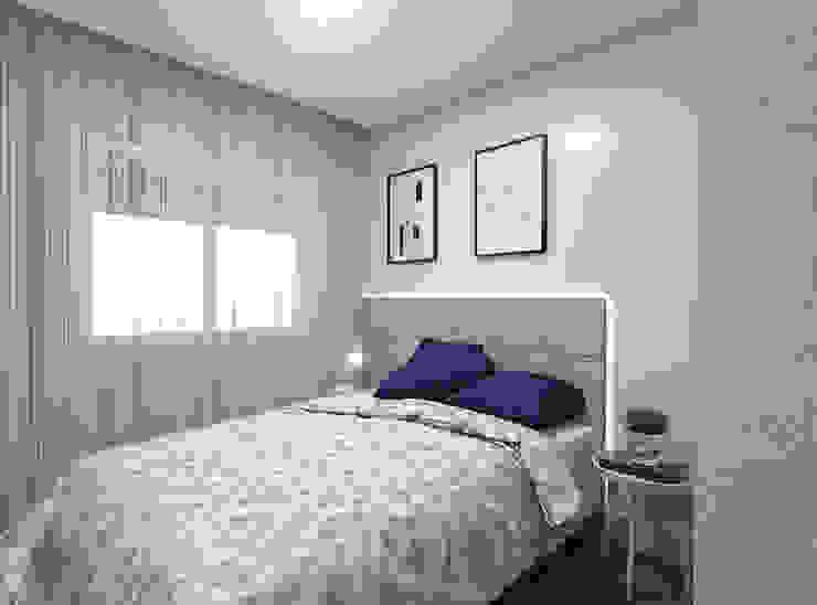 Estúdio j2G| Arquitetura & Engenharia Dormitorios de estilo minimalista Compuestos de madera y plástico Gris