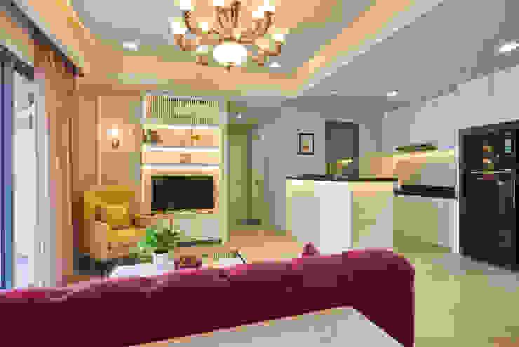Căn hộ Masteri Phòng khách phong cách kinh điển bởi Archifix Design Kinh điển