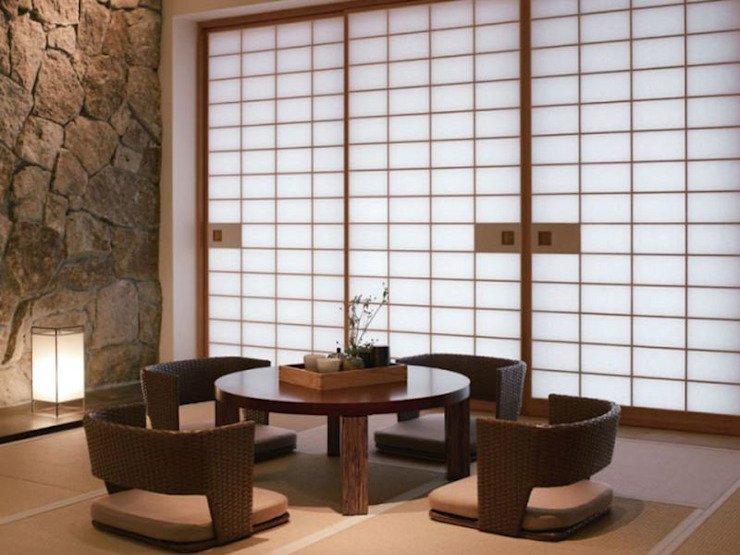 Phong Cách Nhật Trong Thiết Kế Nội Thất Phòng Khách Đẹp Trang Nhã Phòng khách phong cách châu Á bởi Công ty Thiết Kế Xây Dựng Song Phát Châu Á