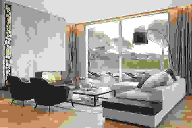 Bloom Marinha, Cascais DZINE & CO, Arquitectura e Design de Interiores Salas de estar modernas