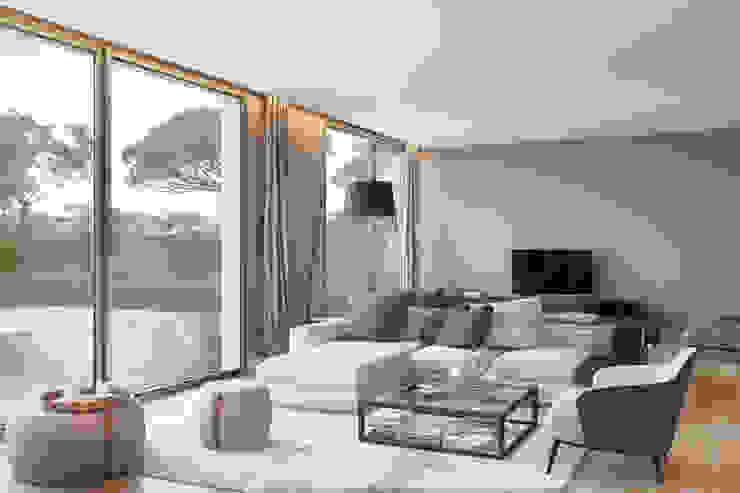 Bloom Marinha, Cascais Salas de estar modernas por DZINE & CO, Arquitectura e Design de Interiores Moderno