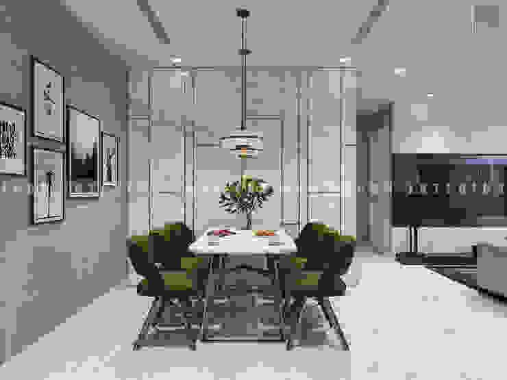 Căn hộ Vinhomes Golden River với THIẾT KẾ HIỆN ĐẠI THANH LỊCH Phòng ăn phong cách hiện đại bởi ICON INTERIOR Hiện đại