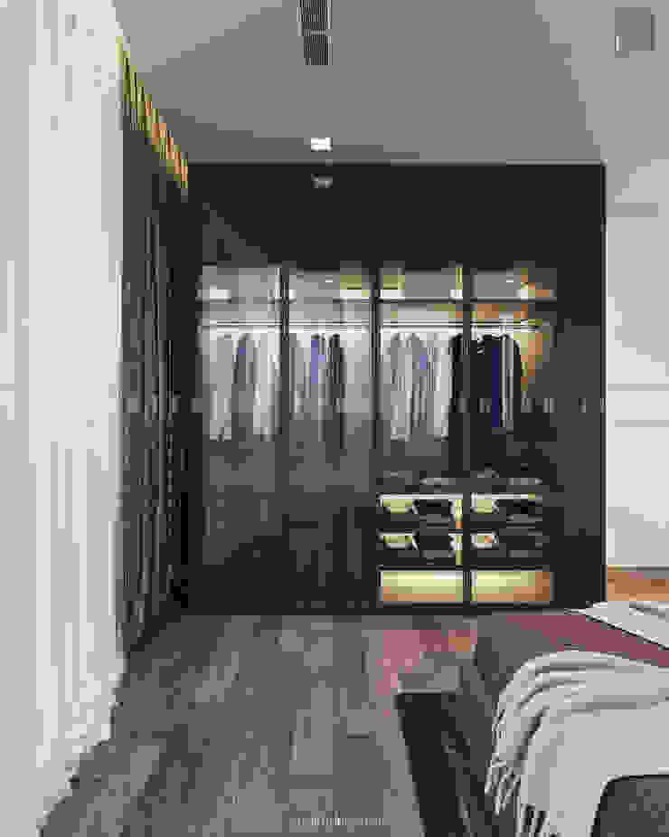Căn hộ Vinhomes Golden River với THIẾT KẾ HIỆN ĐẠI THANH LỊCH Phòng thay đồ phong cách hiện đại bởi ICON INTERIOR Hiện đại