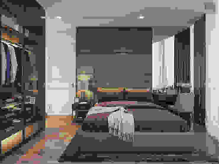 Căn hộ Vinhomes Golden River với THIẾT KẾ HIỆN ĐẠI THANH LỊCH Phòng ngủ phong cách hiện đại bởi ICON INTERIOR Hiện đại