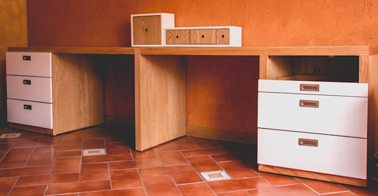Mono Studio Office spaces & stores Wood-Plastic Composite Wood effect