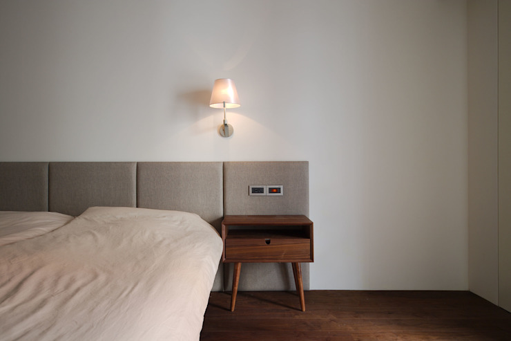 Minimalist bedroom by 直方設計有限公司 Minimalist Solid Wood Multicolored