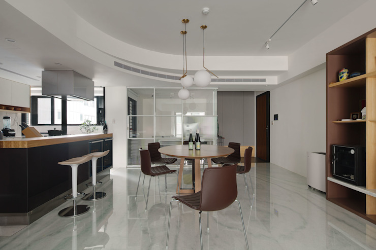 Minimalist dining room by 直方設計有限公司 Minimalist Marble