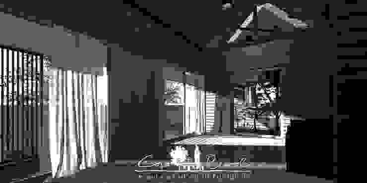 casa rural - Arquitectos en Coyhaique Country style corridor, hallway& stairs