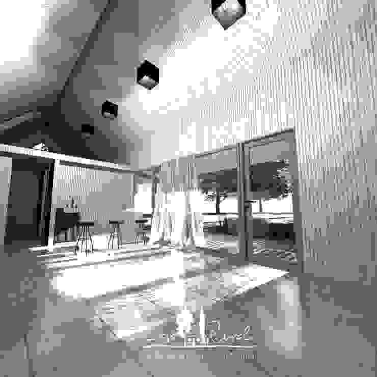 Living Livings de estilo de casa rural - Arquitectos en Coyhaique Rural