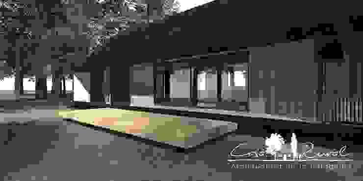 casa rural - Arquitectos en Coyhaique Country style windows & doors