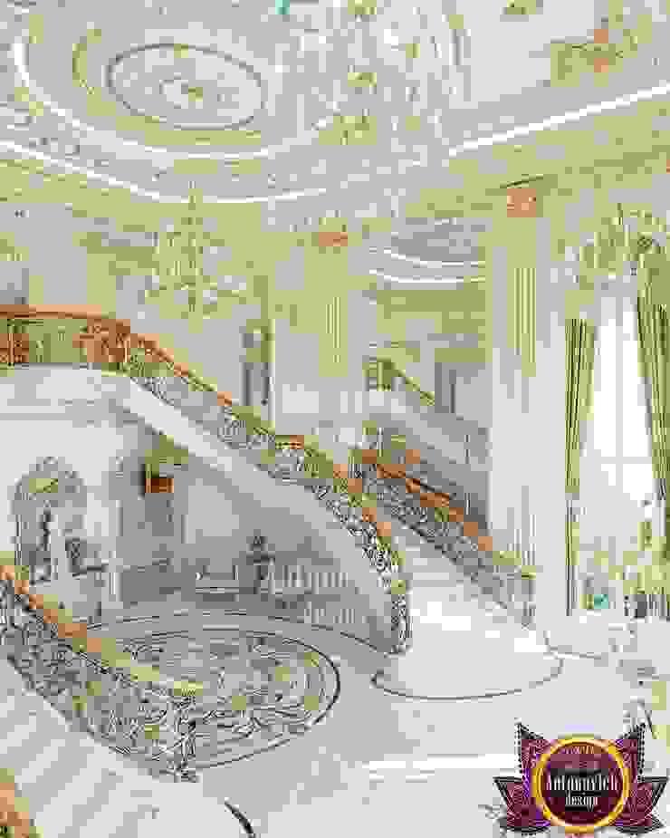 House interior design Florida by Katrina Antonovich Classic style corridor, hallway and stairs by Luxury Antonovich Design Classic