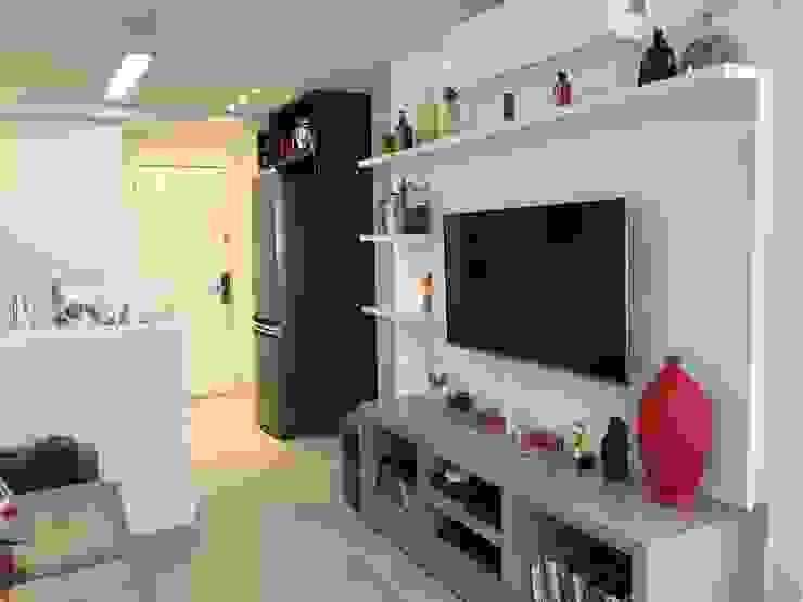 3JP Engenharia Modern Living Room Wood White