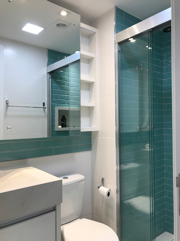 3JP Engenharia Modern Bathroom Ceramic Blue