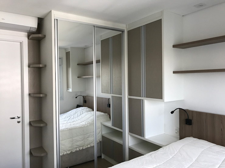 3JP Engenharia Modern Bedroom Wood Beige