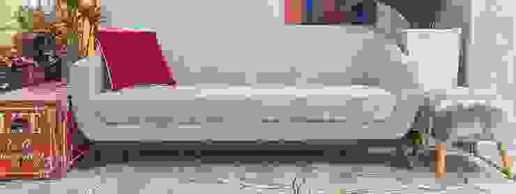 Releituras Modernas por Sgabello Interiores Moderno Algodão Vermelho