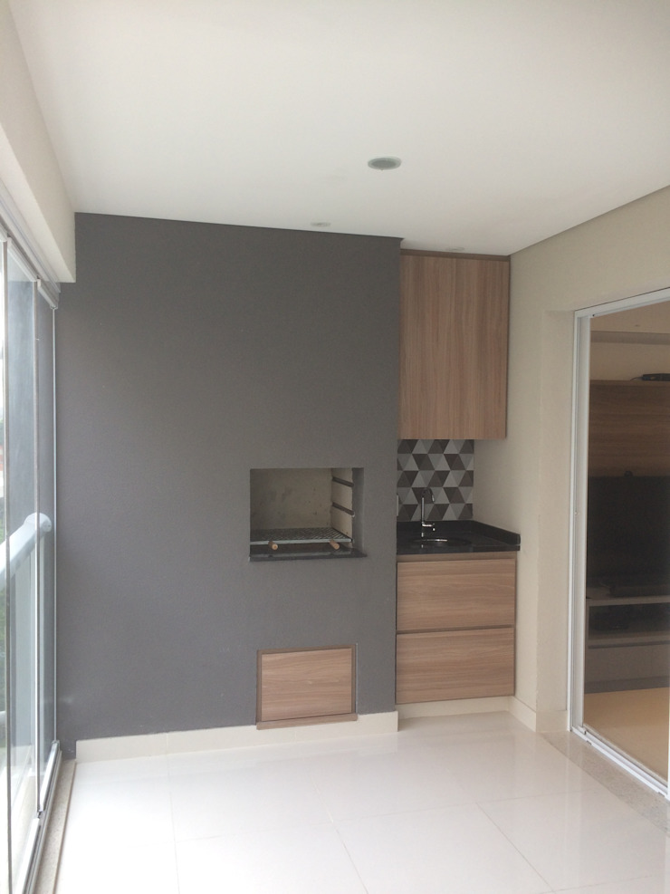 3JP Engenharia Modern terrace Tiles Grey