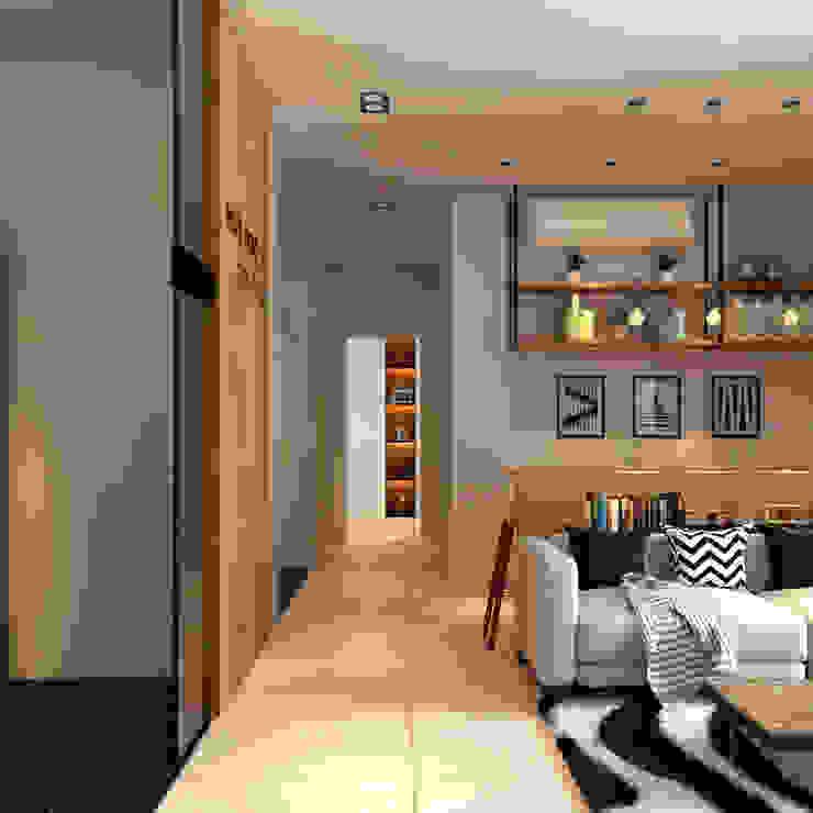 corridor Norm designhaus Mediterranean style corridor, hallway and stairs