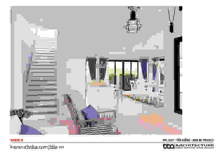 Thiết kế biệt thự 2 tầng 14 x 16 250m2 Mr. Quý | Nhà Bè bởi Công ty Cổ phần Thiết kế Xây dựng Bộ Ba