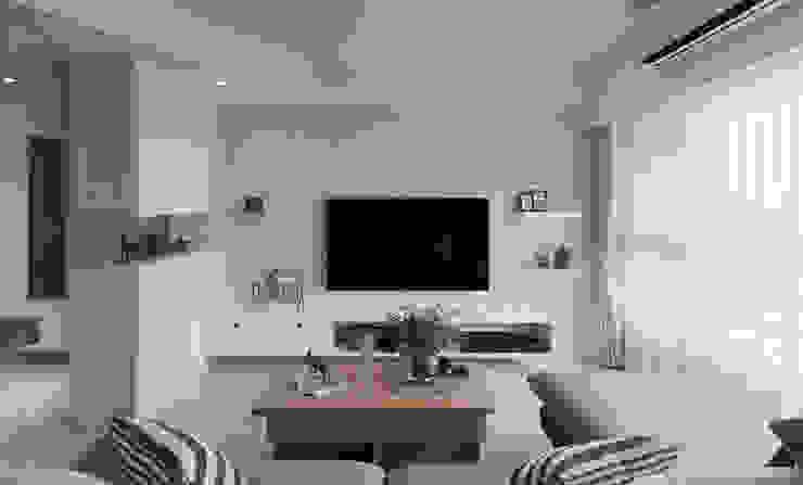 Phòng khách phong cách Bắc Âu bởi 寓子設計 Bắc Âu