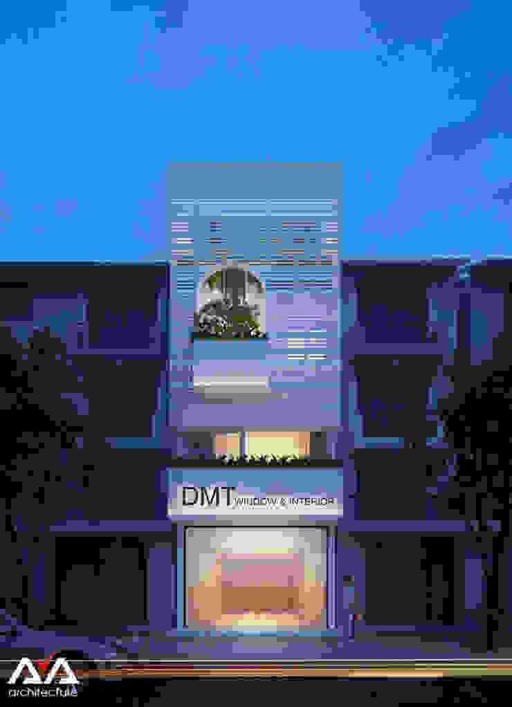 Mặt tiền nhà phố đẹp Khu đô thị sinh thái Hòa xuân, TP. Đà Nẵng bởi AVA Architects Hiện đại
