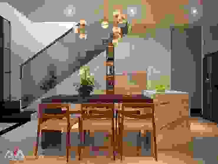 Thiết kế nhà phố đẹp tại Đà Nẵng Nhà bếp phong cách hiện đại bởi AVA Architects Hiện đại