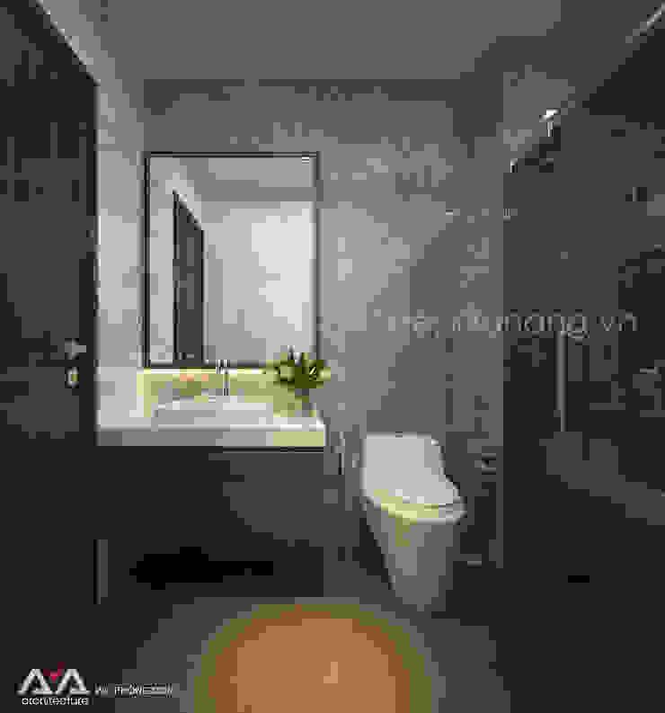Thiết kế nhà phố đẹp tại Đà Nẵng Phòng tắm phong cách hiện đại bởi AVA Architects Hiện đại