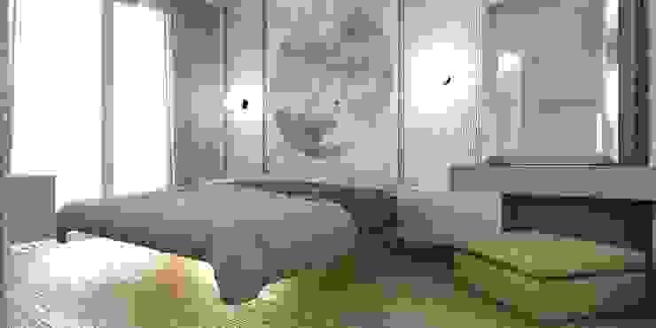 PROGETTAZIONE INTERNA DI UNA ABITAZIONE IN STILE MINIMAL SAMANTHA PASTRELLO INTERIOR DESIGN Camera da letto minimalista
