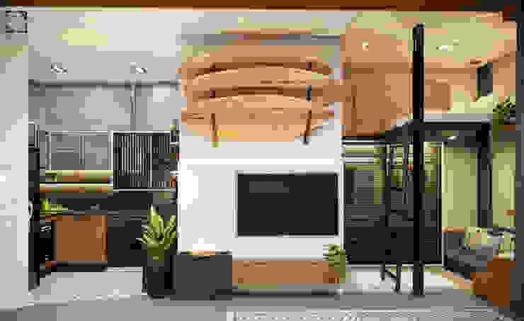 Встроенные кухни в . Автор – Rau Duarte Arquitetura,