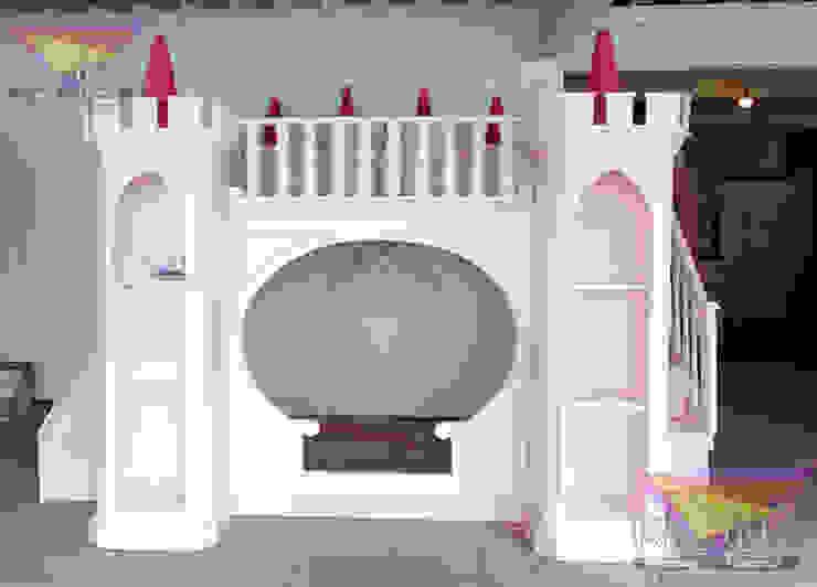 Precioso castillo algodon de azucar de camas y literas infantiles kids world Clásico Derivados de madera Transparente