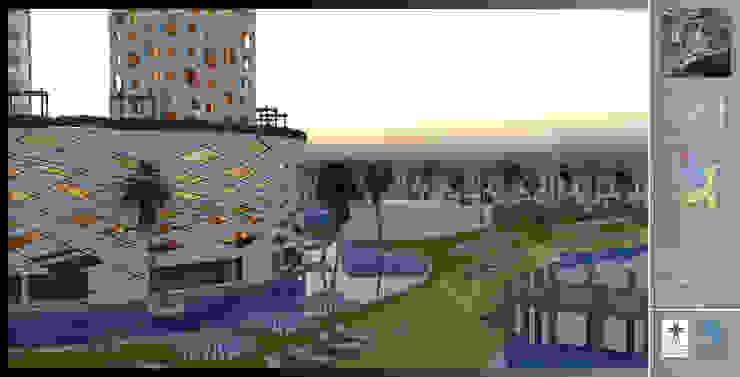Merit Cyprus Garden Mediterranean style hotels by Gurooji Designs Mediterranean