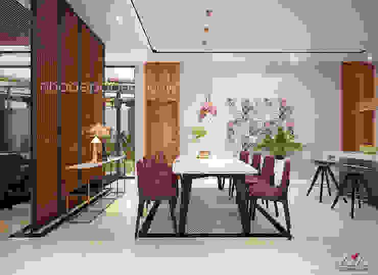 Thiết kế biệt thự hiện đại 3 tầng Nhà bếp phong cách hiện đại bởi AVA Architects Hiện đại
