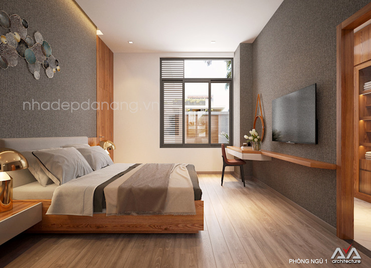 Modern Bedroom by AVA Architects Modern