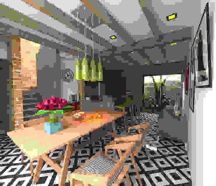 Comedor - cocina Comedores de estilo moderno de Imagen + Diseño + Arquitectura Moderno Azulejos