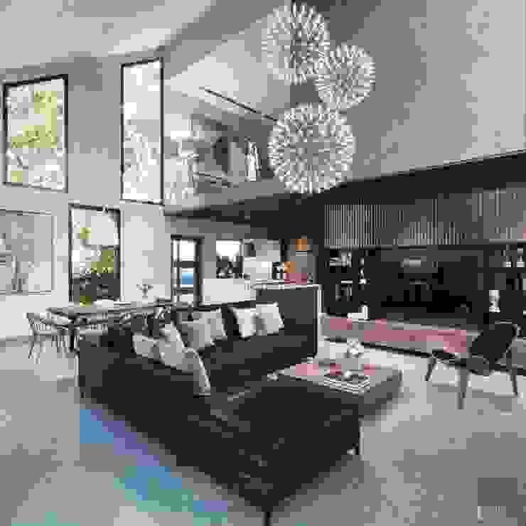 Thiết kế biệt thự hiện đại đẳng cấp với gỗ tự nhiên bởi ICON INTERIOR Hiện đại