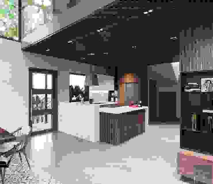 Thiết kế biệt thự hiện đại đẳng cấp với gỗ tự nhiên Nhà bếp phong cách hiện đại bởi ICON INTERIOR Hiện đại