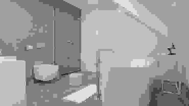 White and bright house interior. SARNA ARCHITECTS Interior Design Studio Minimalistyczna łazienka