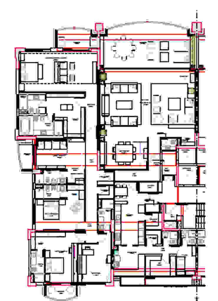 Planta Baixa Salas multimédia ecléticas por Renata Esbroglio Arquitetura Eclético