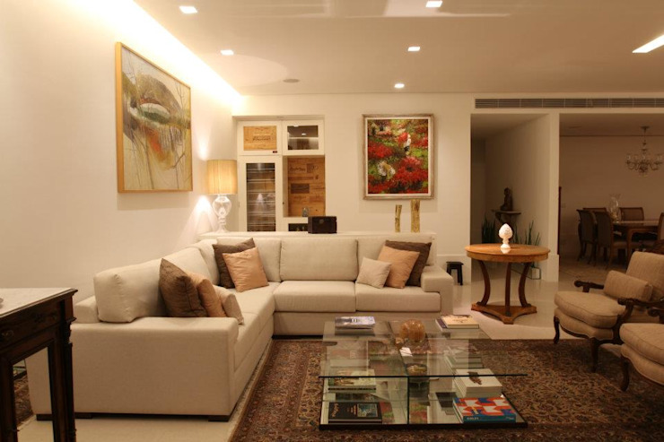 Sala de Estar 2 Salas de estar ecléticas por Renata Esbroglio Arquitetura Eclético