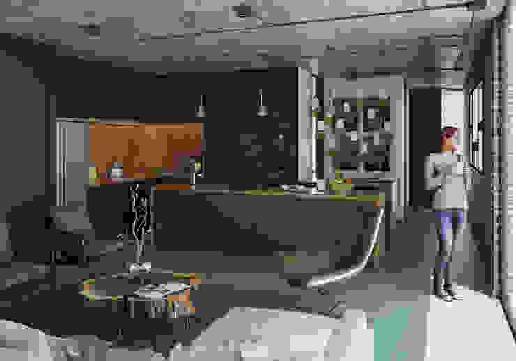 Cocina Stuen Arquitectos Cocinas equipadas Aglomerado Negro