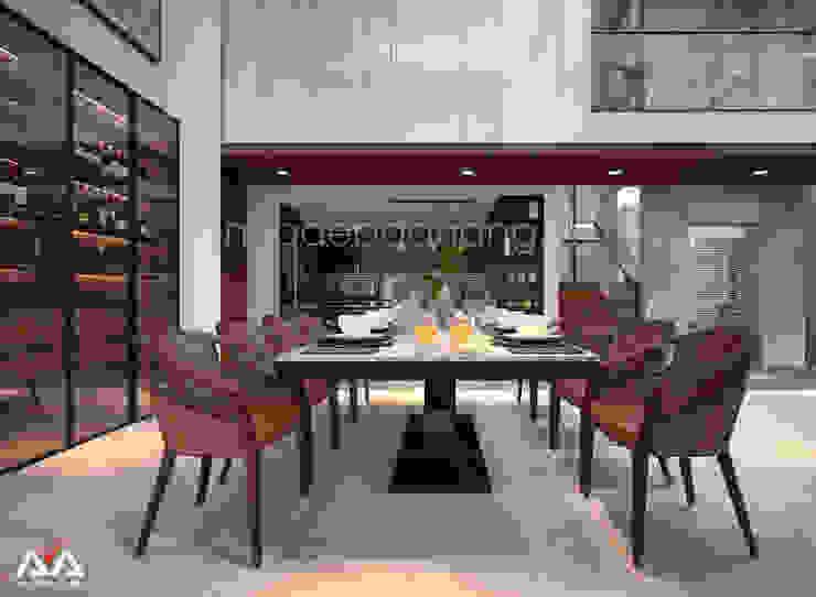 Mẫu thiết kế biệt thự đẹp Nhà bếp phong cách hiện đại bởi AVA Architects Hiện đại