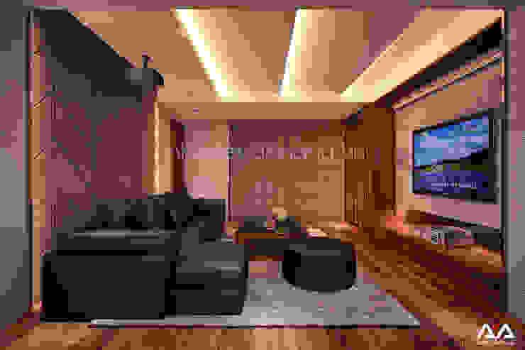 Mẫu thiết kế biệt thự đẹp Phòng giải trí phong cách hiện đại bởi AVA Architects Hiện đại
