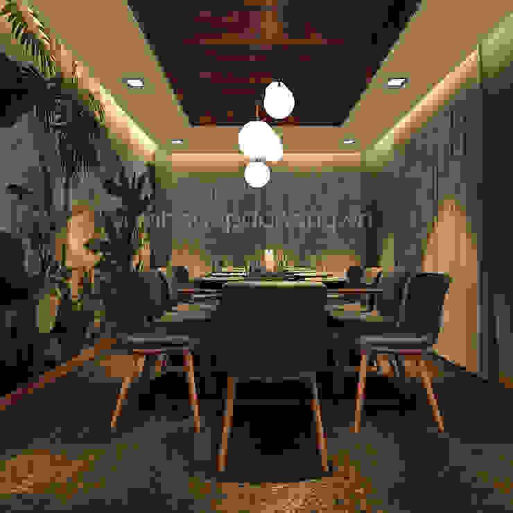 Mẫu thiết kế biệt thự đẹp Phòng ăn phong cách hiện đại bởi AVA Architects Hiện đại