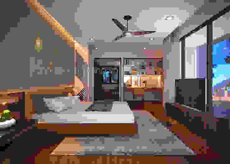 Mẫu thiết kế biệt thự đẹp Phòng ngủ phong cách hiện đại bởi AVA Architects Hiện đại